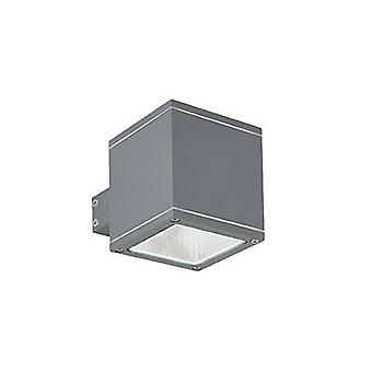 Ideal Lux - Snif Square Anthracite Wall Light IDL121963