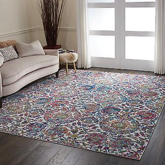ANKARA ANR06 GLOBAL rectángulo azul marfil alfombras alfombras tradicionales