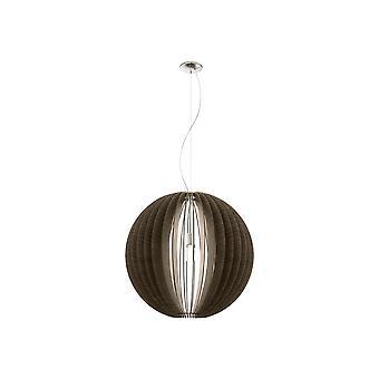 Eglo - Cossano Extra suuri hengen valon yläraja riipus Satiini nikkeli ja tumma puu päätä EG94637