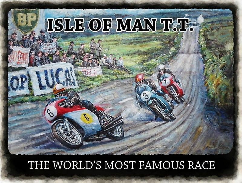 Isle of Man TT World's Most Famous Race small metal sign  (og 2015)