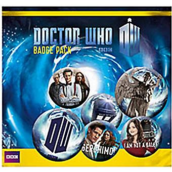 Doctor Who Series 7 Pin Badges in Pack (mm)
