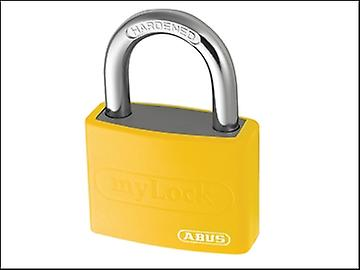 ABUS T65AL/40 40mm My Lock Aluminium Padlock Yellow Body 50032