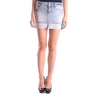 Liu Jo Light Blue Cotton Skirt