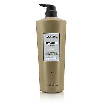 ゴールドウェル Kerasilk コントロール (すべての髪タイプ) - 用シャンプー 1000 ml/33.8 oz を浄化