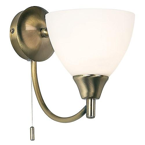 Endon 1805-1AN Switched Single Wall Light With Opal Glass