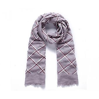Intrigue Womens/Ladies Polyfoam And Check Long Scarf