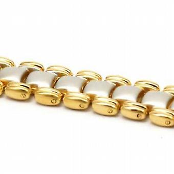 The Olivia Collection Goldtone & Silvertone Magnetic Bracelet 8 inches.