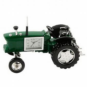 Miniature Farmers Tractor Green Novelty Desktop Collectors Clock 9236G
