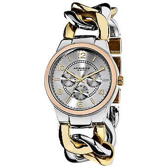 Akribos XXIV AK558TTR Multifunction Crystal Accented Twist Chain Watch