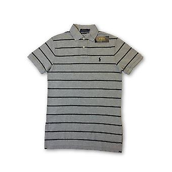 Ralph Lauren polo cutom fit polo in grey tripe