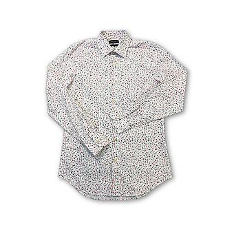 Paul Smith Londen shirt in wit/roze floral design