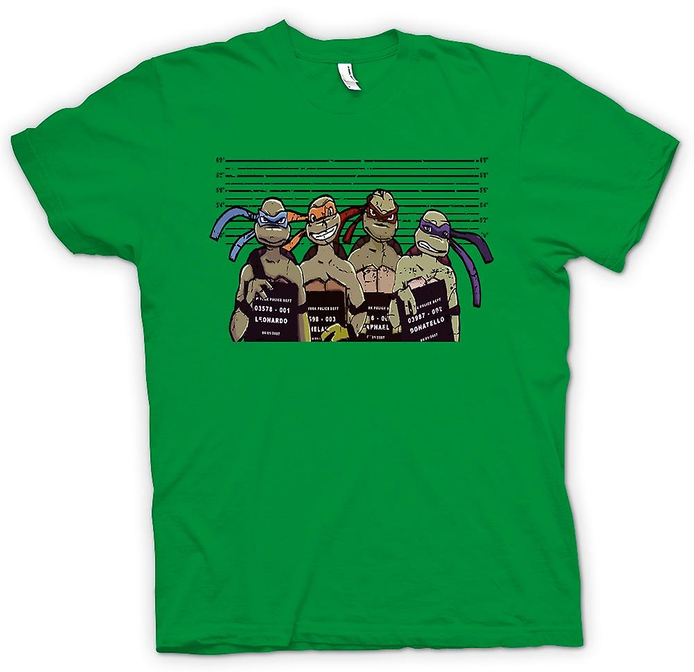 Mens T-shirt - Teenage Mutant Ninja Turtles Police Line Up