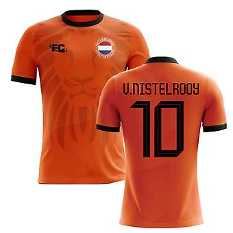 2018-2019 Holland Fans Culture Home Concept Shirt (V.NISTELROOY 10)