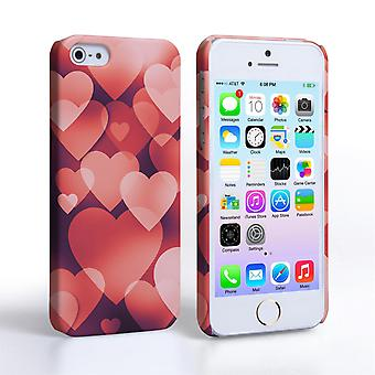 Caseflex iPhone 5 and 5S Shimmering Hearts Case - Red