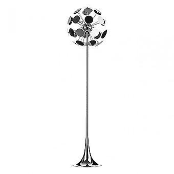 Premier Home disc vloer lamp, chroom, zilver