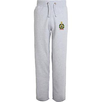 Kings Own Scottish Borderers Veteran - Licensed British Army Embroidered Open Hem Sweatpants / Jogging Bottoms