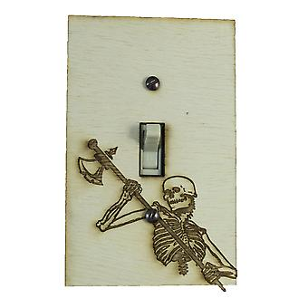 Skeleton axe switch plate - raw wood - 3