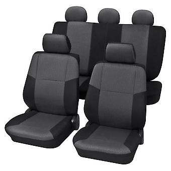 Charcoal Grey Premium Car Seat Cover set For Volkswagen POLO CLASSIC 1985-1994