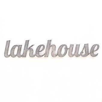 Lakehouse - metal cut sign 33x6in