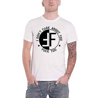 Angst T shirt ik dont zorg over u band logo hardcore punk officiële mens wit