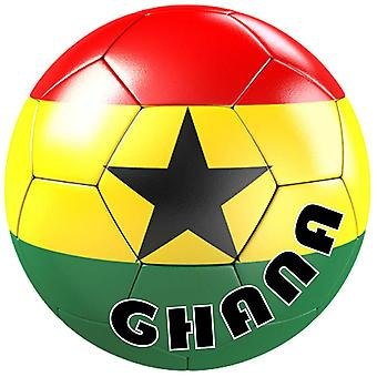 Autocolant Sticker Equipe Voiture Moto Football Drapeau Sport Ballon Foot Ghana