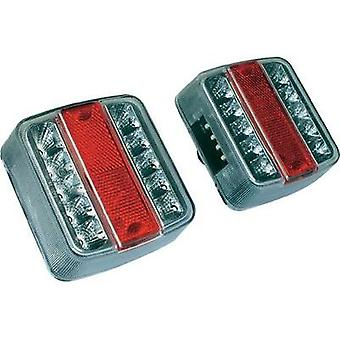 LEDs Trailer tail light left , right 12 V Red, Si