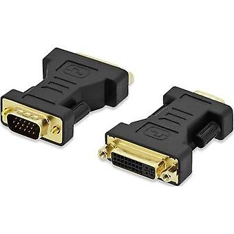VGA / DVI Adapter [1x VGA plug - 1x DVI socket 29-pin] Black screwable, gold plated connectors ednet