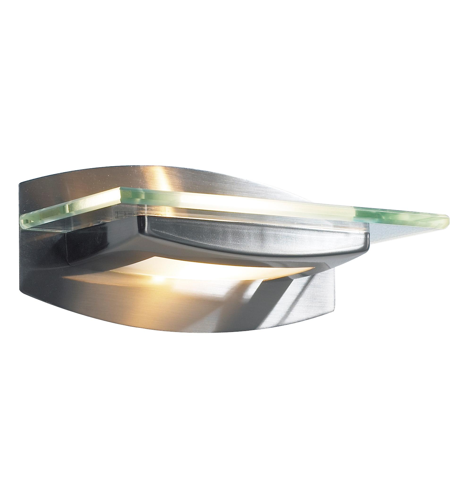 Dar THO0746 Thomas Modern Wall Bracket In A Satin Chrome Finish