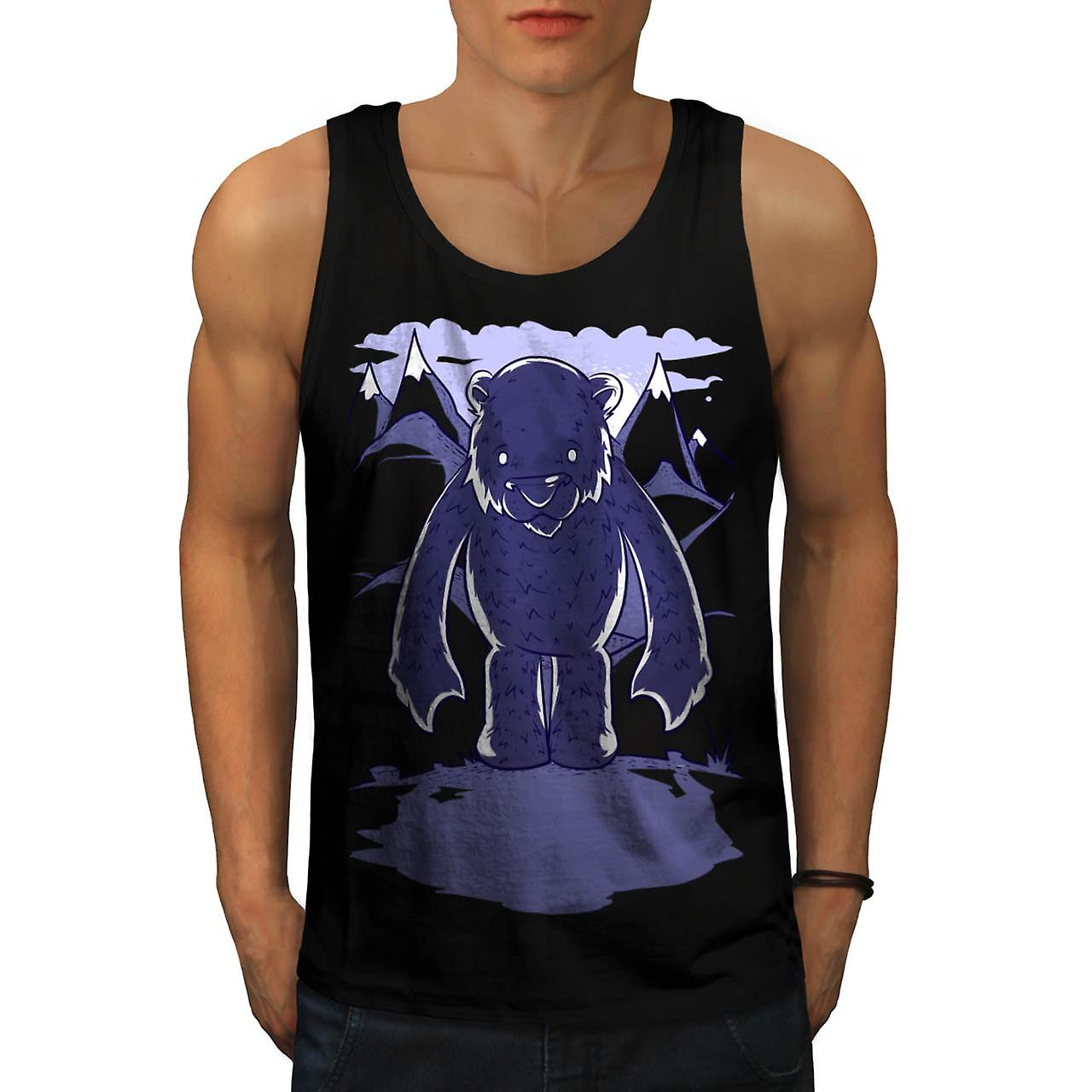Polar Bear Danger Game Camp Site Men Black Tank Top | Wellcoda