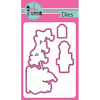 Pink And Main Dies-Ho Ho Ho, 3/Pkg PNM049