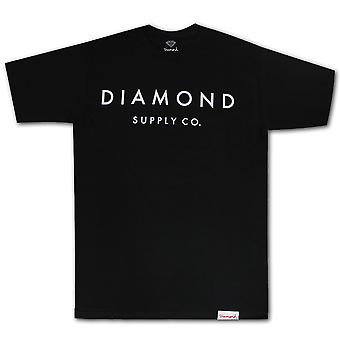 Diamond Supply Co Stone Cut Premium Cotton T-shirt Black