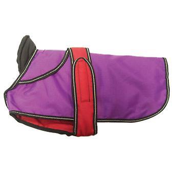 2 In 1 Purple Dog Coat 35cm (14'')