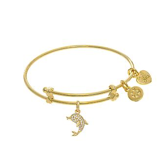 Dolphin Charm Adjustable Bangle Girls Bracelet