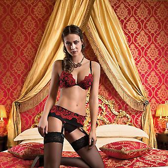 Set-(oil push bh + tanga)-ambra-Italian-Luxury-Red
