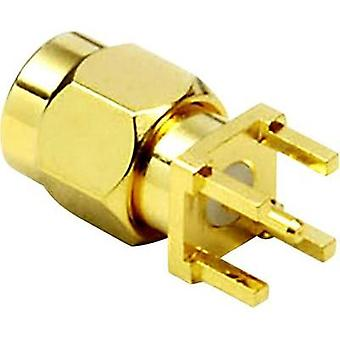 SMA reverse polarity connector Plug, vertical mount 50 Ω BKL Electronic 0409061 1 pc(s)