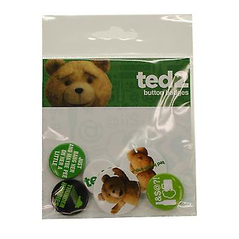 Badge de eslogan de Ted 2 Pack