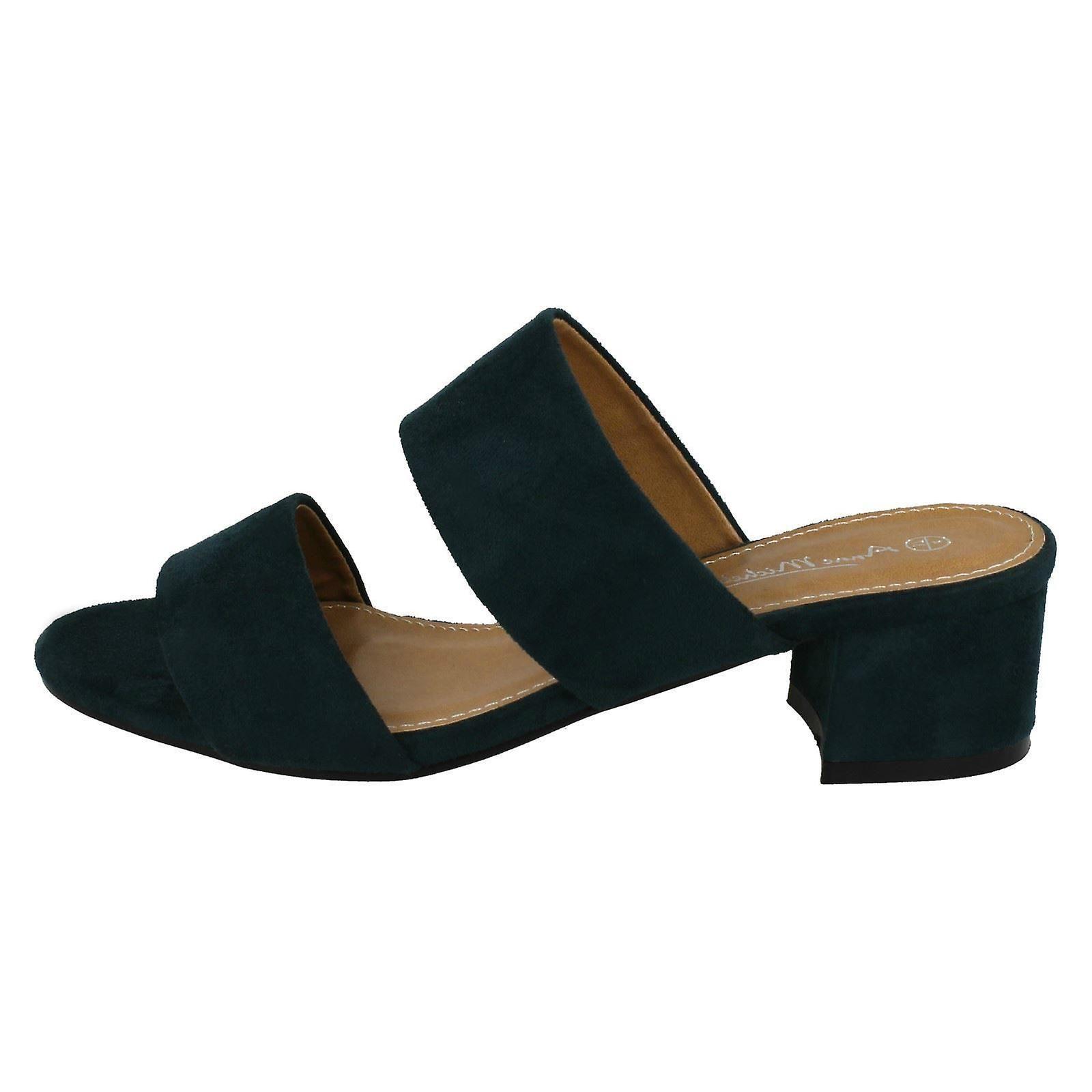 Strap Sandals Ladies Mule Heel Michelle Anne F10627 Mid gapwqO7R