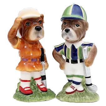Sport Golf golfspiller hund par Salt og peber Shaker