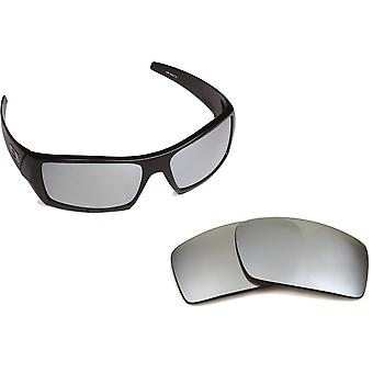 New SEEK Polarized Replacement Lenses for Oakley GASCAN Black Silver Mirror