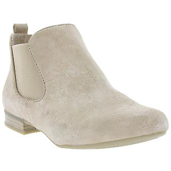 CAPRICE Chelsea shoes ladies leather ankle boots beige 9-25301-28-404