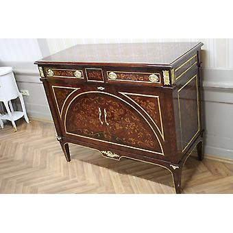 Buffet baroque style antique poitrine marbre antique style baroque Louis xv MkMo0052