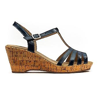 Caprice Wedge -Womens - Ocean Patent
