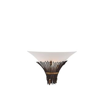 Lucide CANNA Wall Light 1xE14 D35 Glass Scavo/ Rust