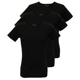 Tommy Hilfiger 3-Pack Premium Crew-neck T-Shirts, Black
