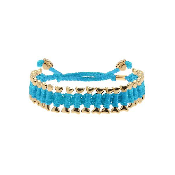 W.A.T Blue 'Heart U Back' Dog Bone Friendship Bracelet