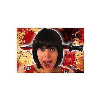 Halloween and horror  Knife through head