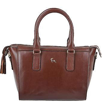 Ashwood Small Veg Tanned Leather Tote - Si 1344 - Chestnut/vt