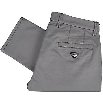 Armani Jeans 8n6p15 Slim Fit P15 Grey Cotton Stretch Chino