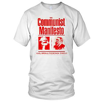 The Communist Manifesto Marx Labour Socialism Ladies T Shirt