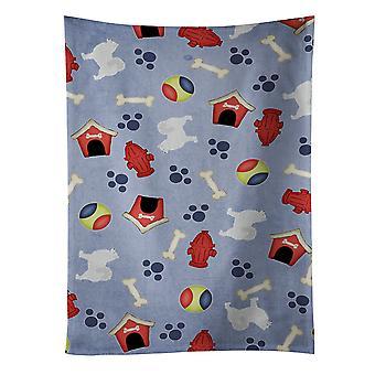 Carolines tesoros BB3959KTWL perro samoyedo casa colección toalla de cocina